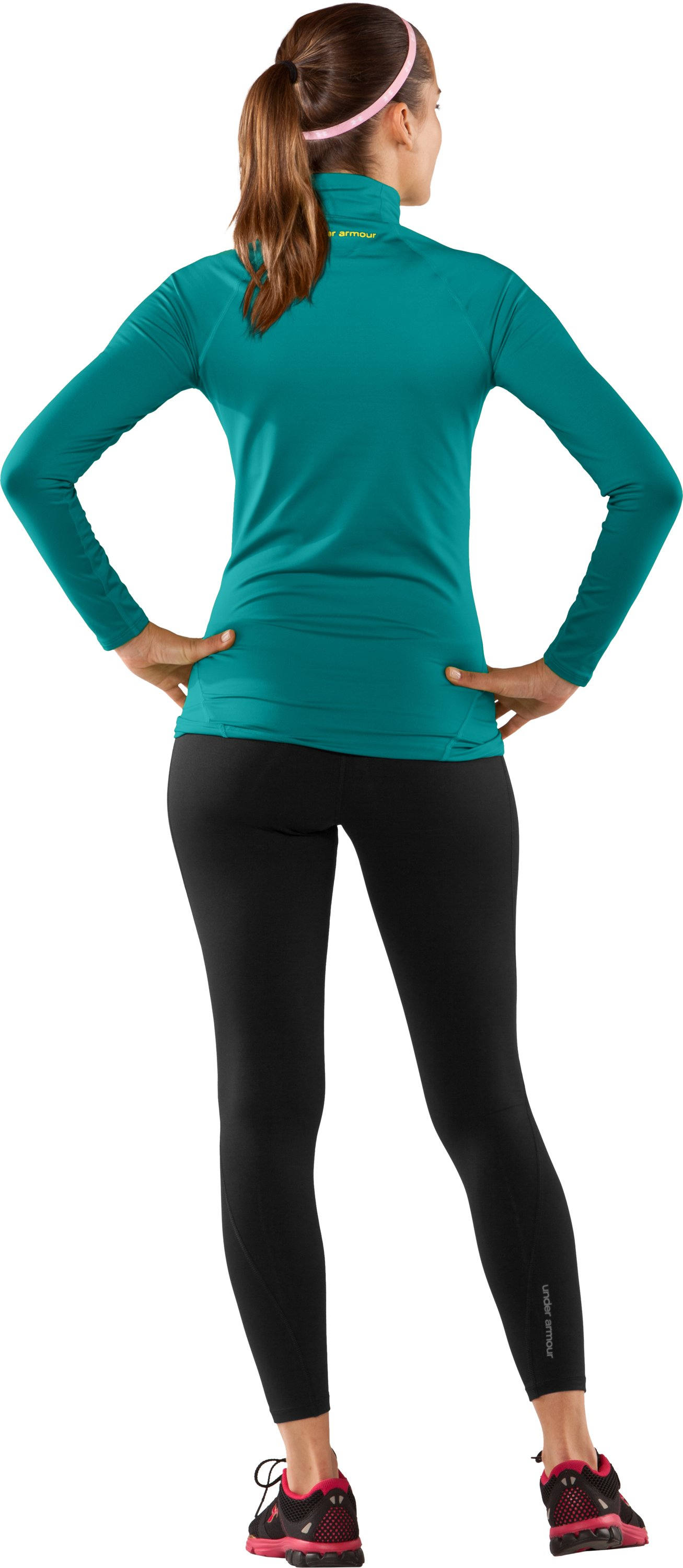 Women's UA EVO ColdGear® Long Sleeve Mock, Swallowtail, Back