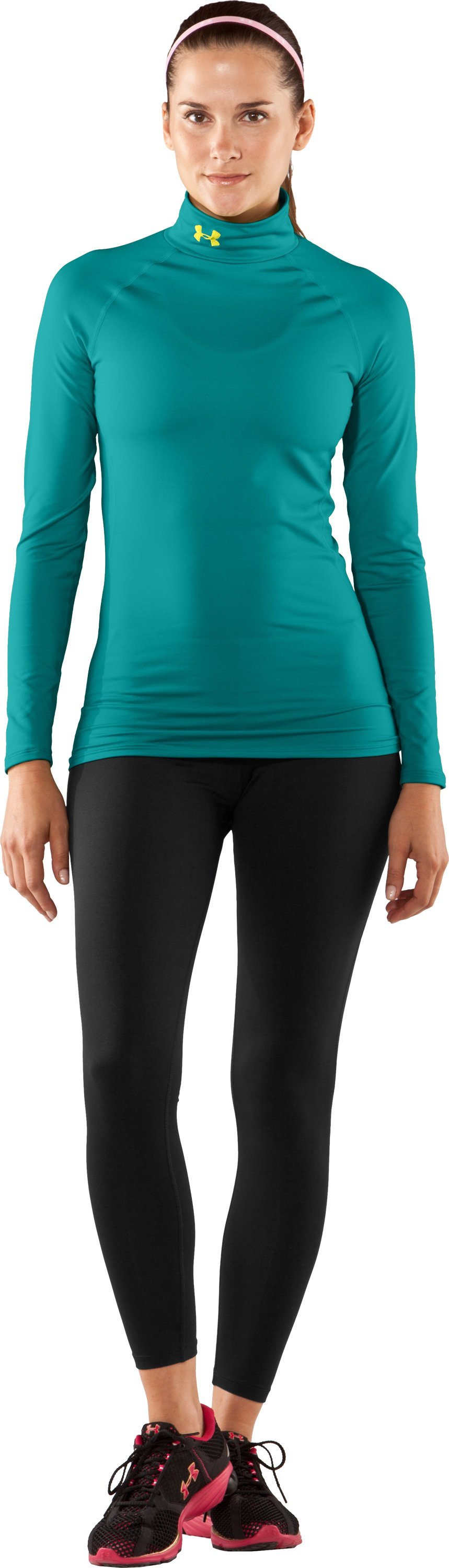Women's UA EVO ColdGear® Long Sleeve Mock, Swallowtail, Front
