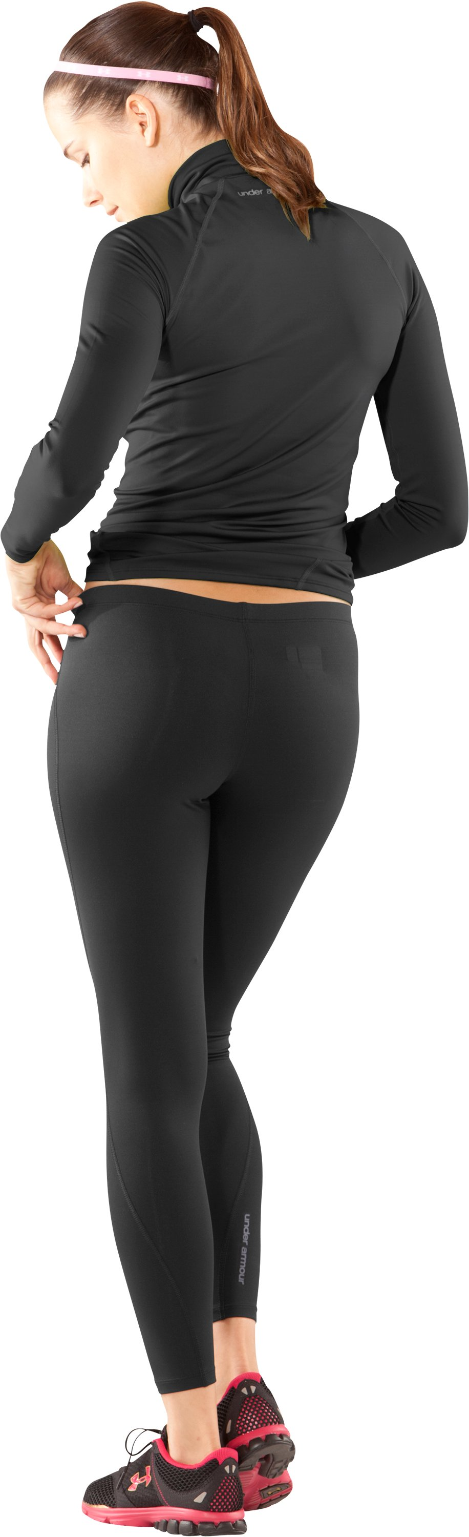 Women's UA EVO ColdGear® Leggings, Black , Back