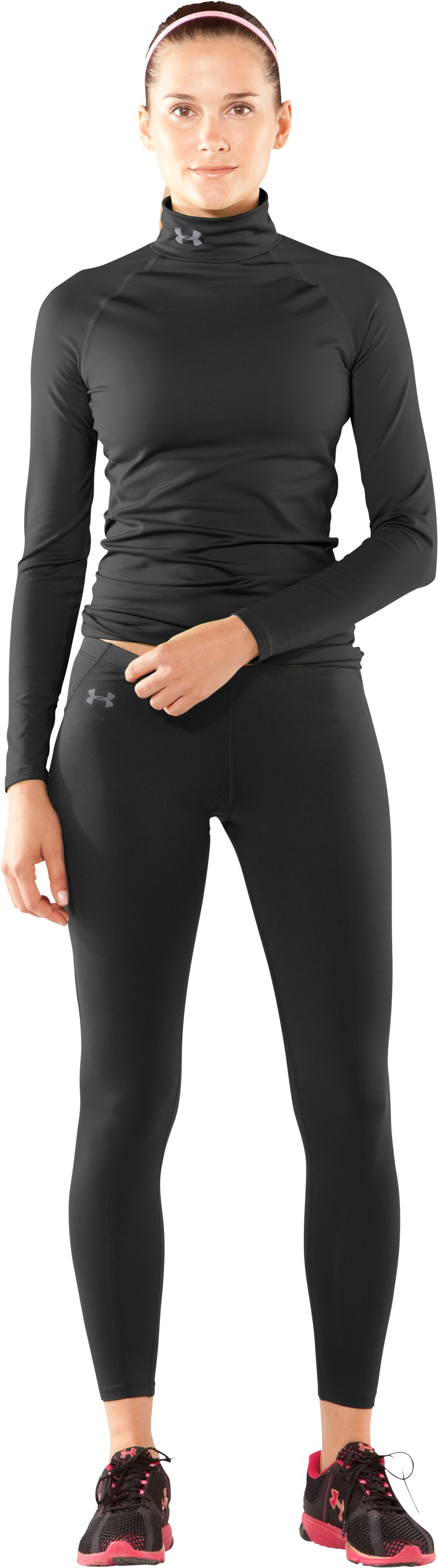 Women's UA EVO ColdGear® Leggings, Black , Front
