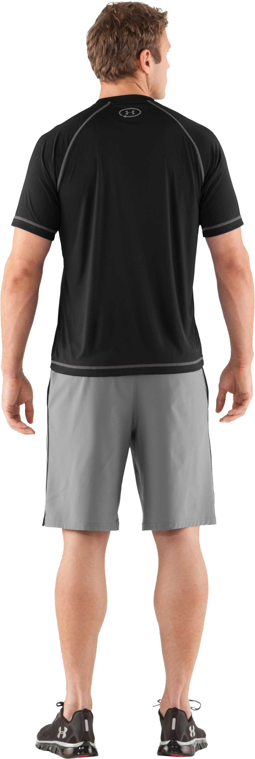 Men's UA Catalyst Short Sleeve T-Shirt, Black , Back