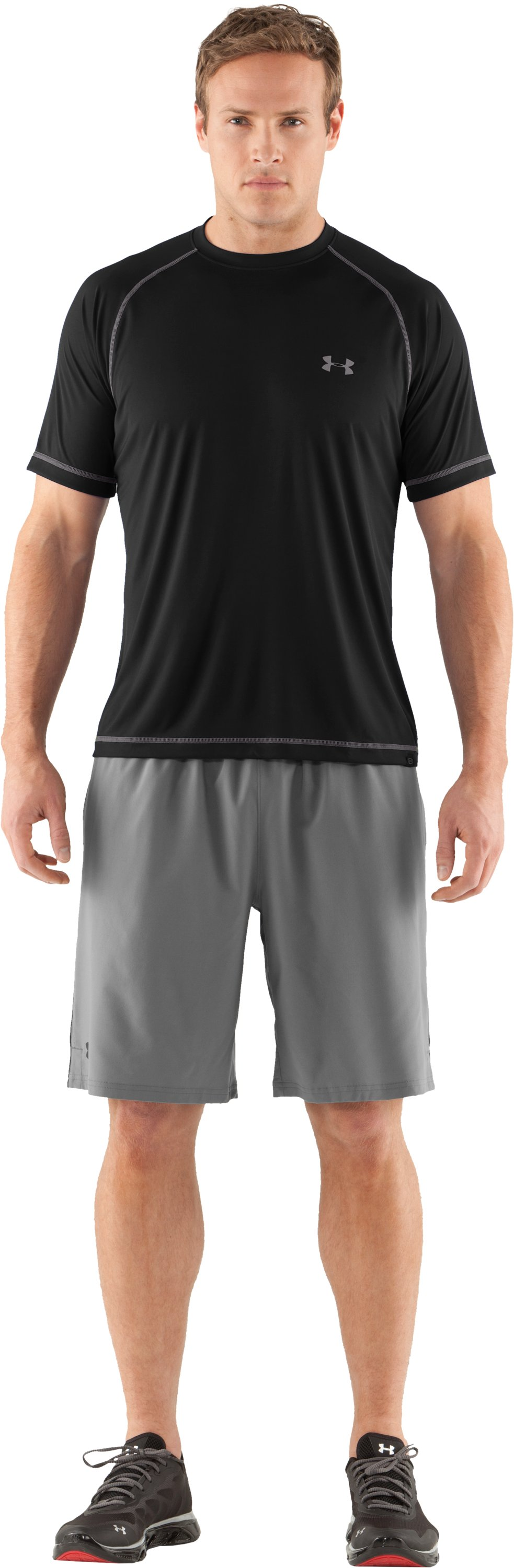 Men's UA Catalyst Short Sleeve T-Shirt, Black , zoomed image