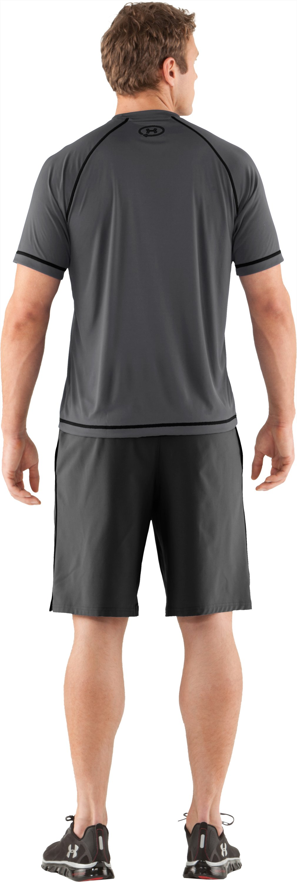Men's UA Catalyst Short Sleeve T-Shirt, Graphite, Back