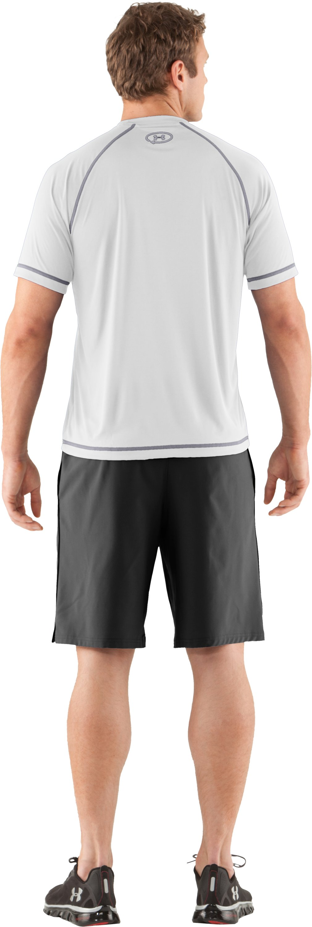 Men's UA Catalyst Short Sleeve T-Shirt, White, Back
