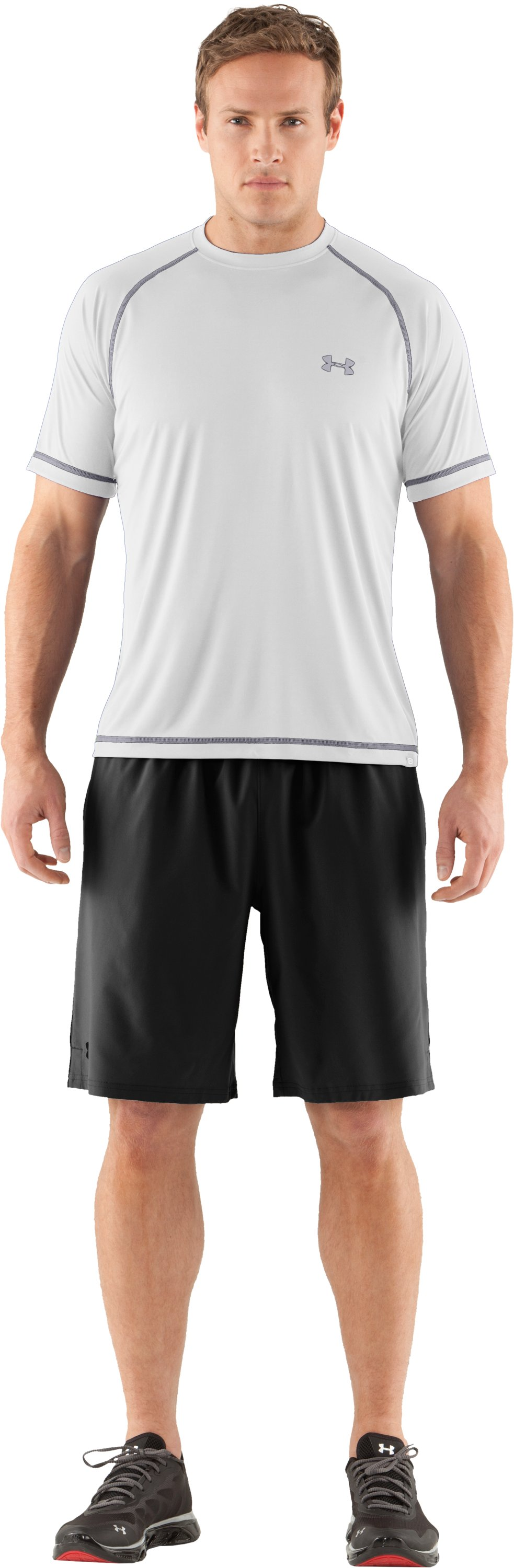 Men's UA Catalyst Short Sleeve T-Shirt, White, Front