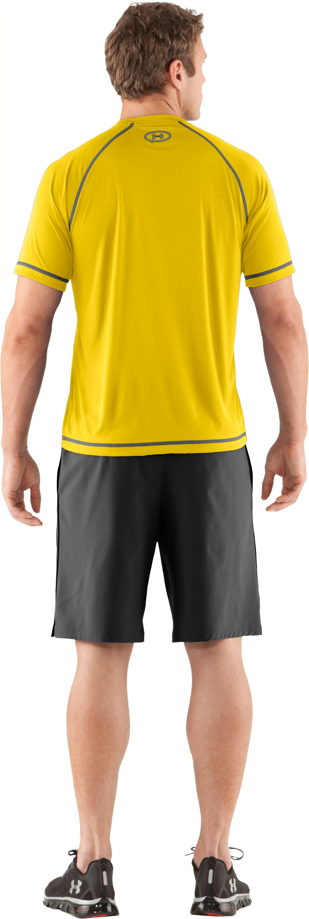 Men's UA Catalyst Short Sleeve T-Shirt, Taxi, Back