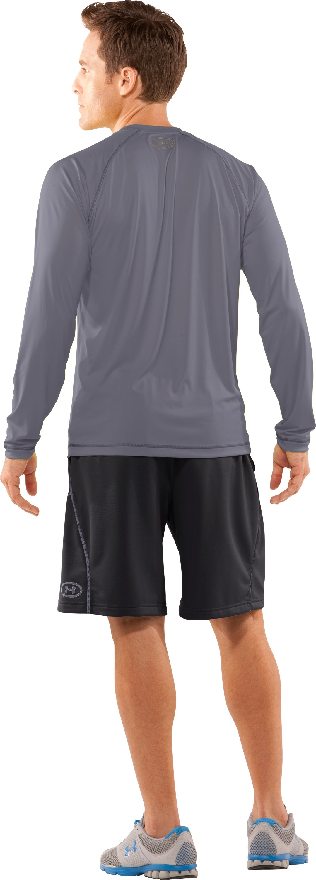 Men's UA Catalyst Long Sleeve T-Shirt, Graphite, Back