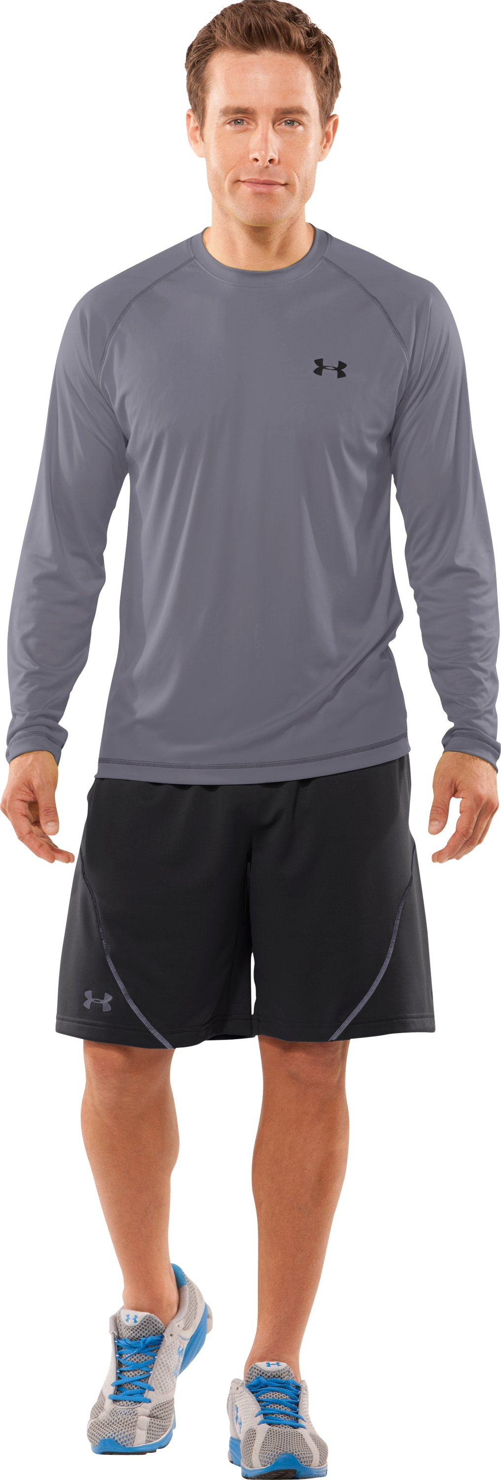 Men's UA Catalyst Long Sleeve T-Shirt, Graphite, Front