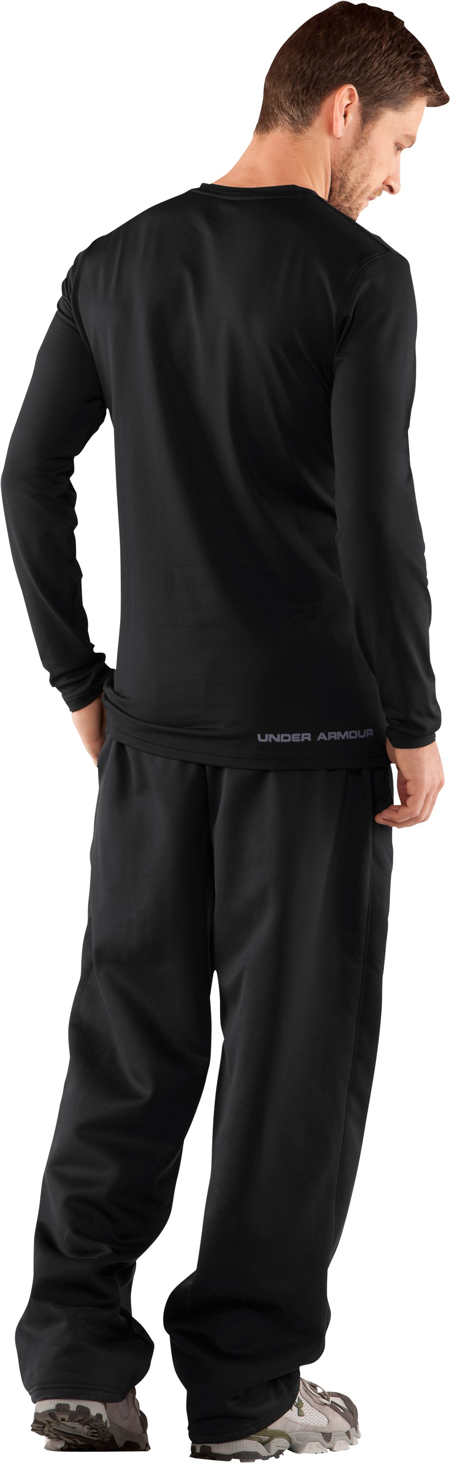 Men's UA EVO ColdGear® Fitted Long Sleeve Crew, Black , Back