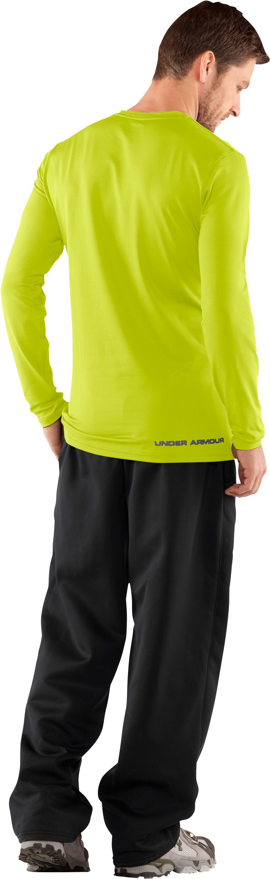 Men's UA EVO ColdGear® Fitted Long Sleeve Crew, Velocity, Back