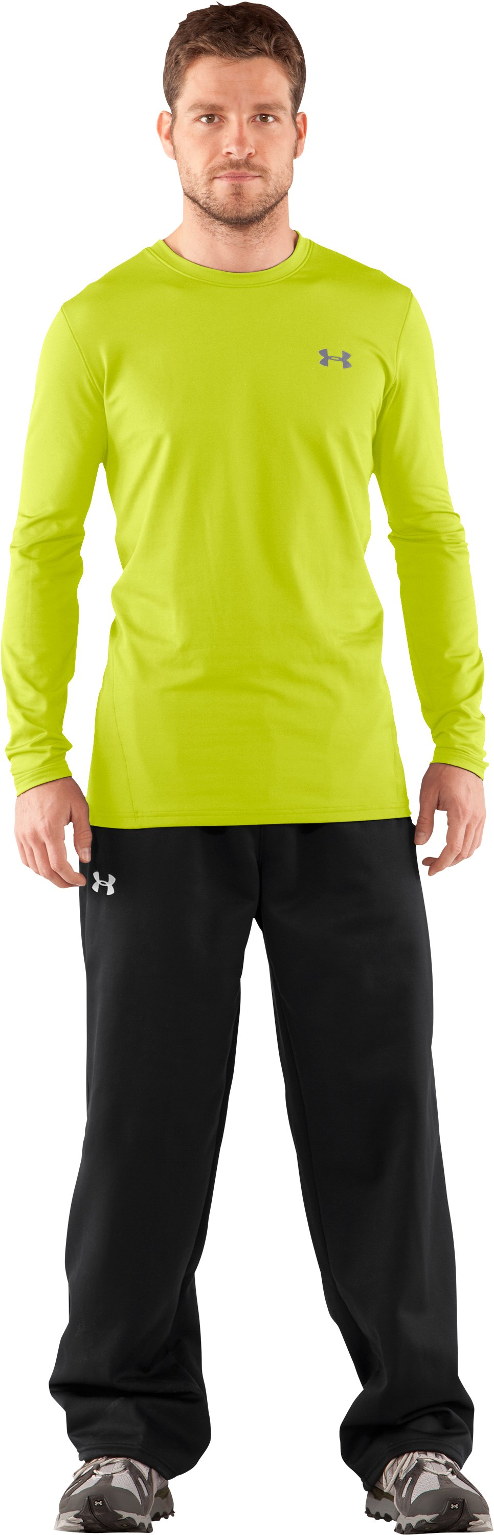 Men's UA EVO ColdGear® Fitted Long Sleeve Crew, Velocity, Front