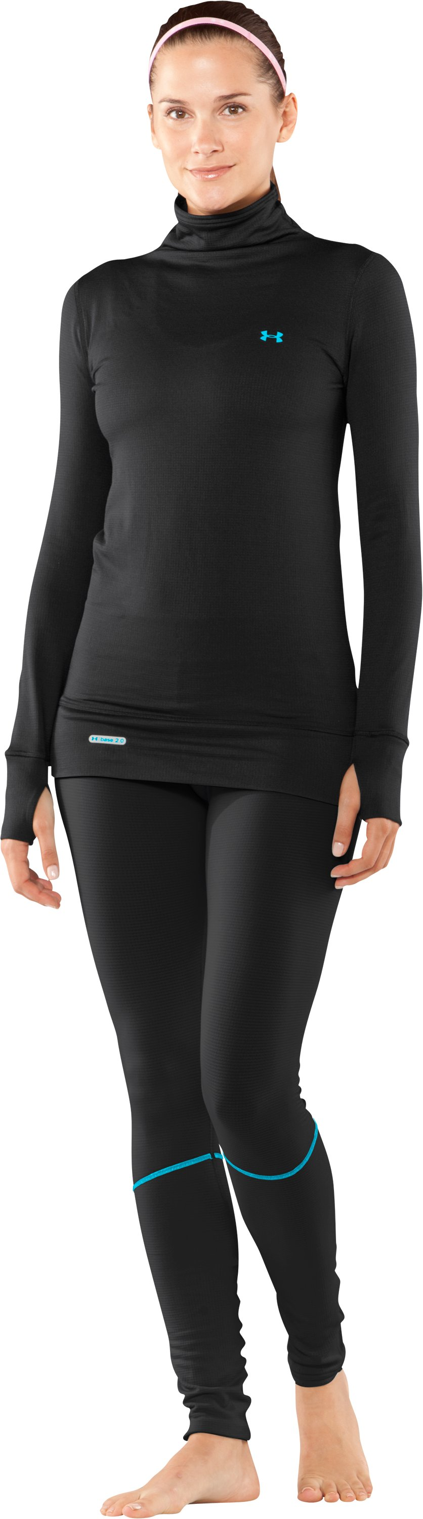 Women's UA Base™ 2.0 Turtleneck, Black , Front