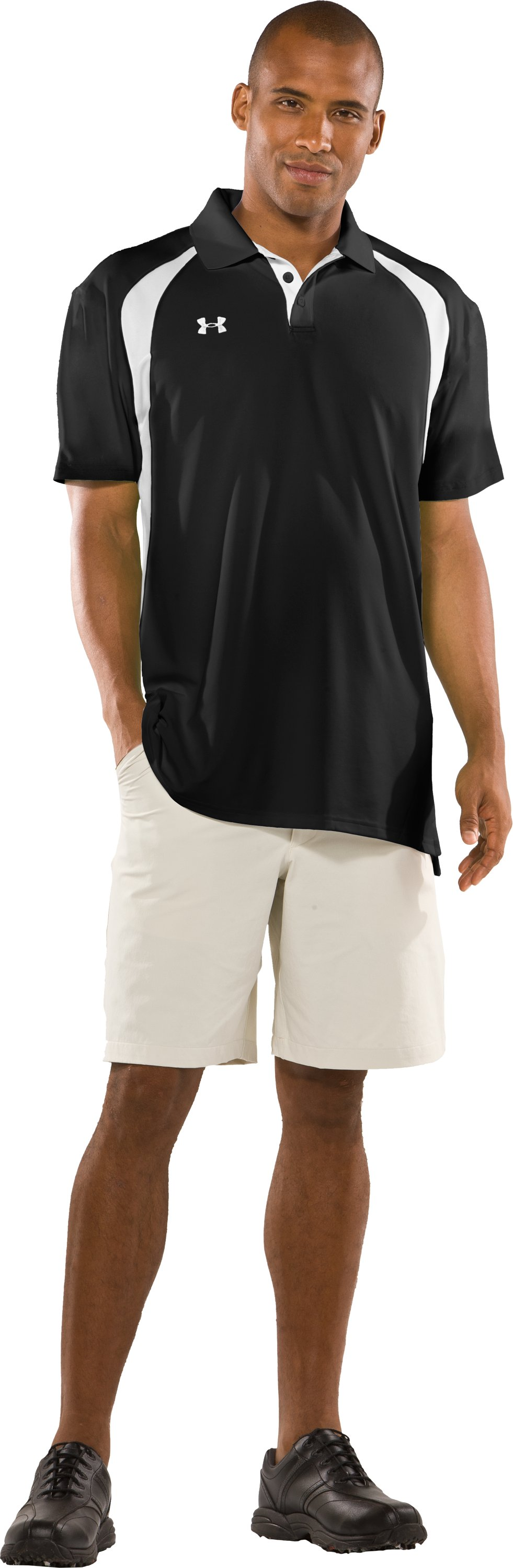 Men's UA Clutch Polo, Black , zoomed image