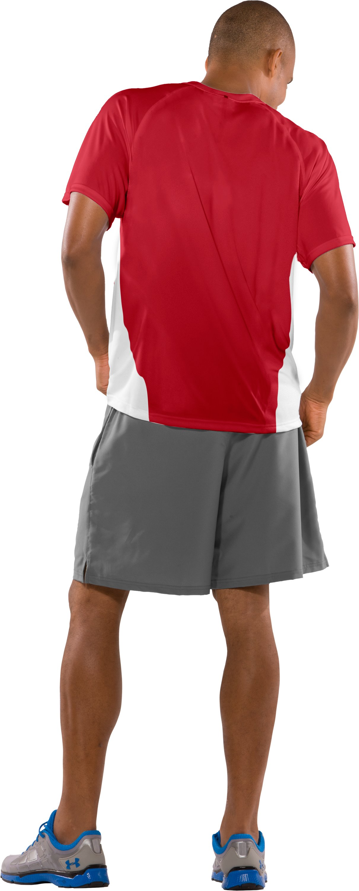 Men's UA Clutch Short Sleeve Jersey, Red, Back