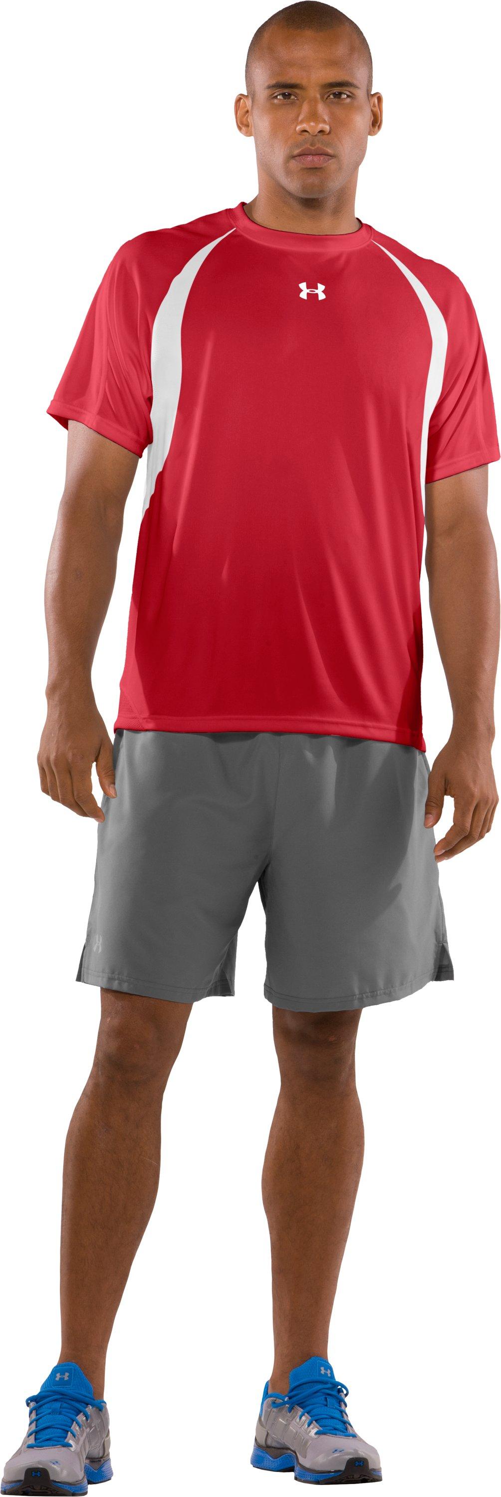 Men's UA Clutch Short Sleeve Jersey, Red, zoomed image