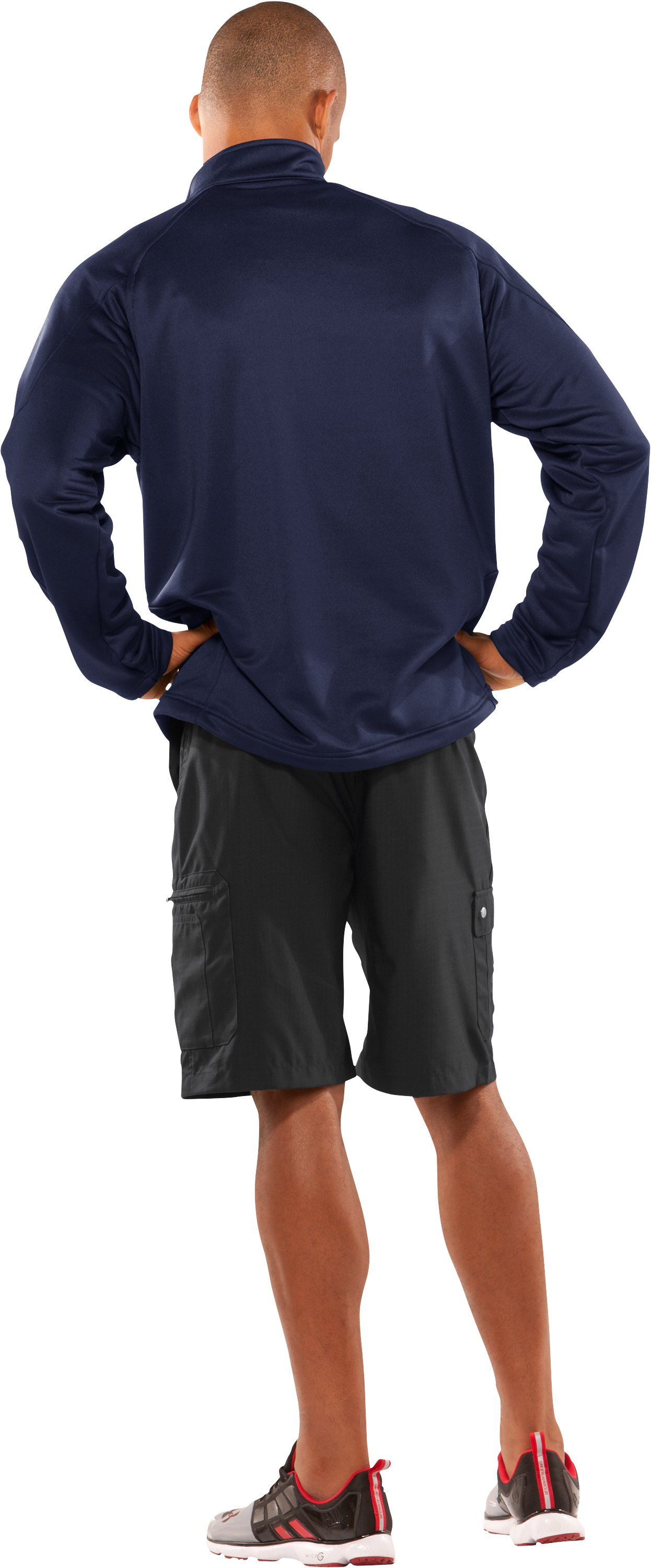 Men's UA Scout ¼ Zip Pullover, Midnight Navy, Back
