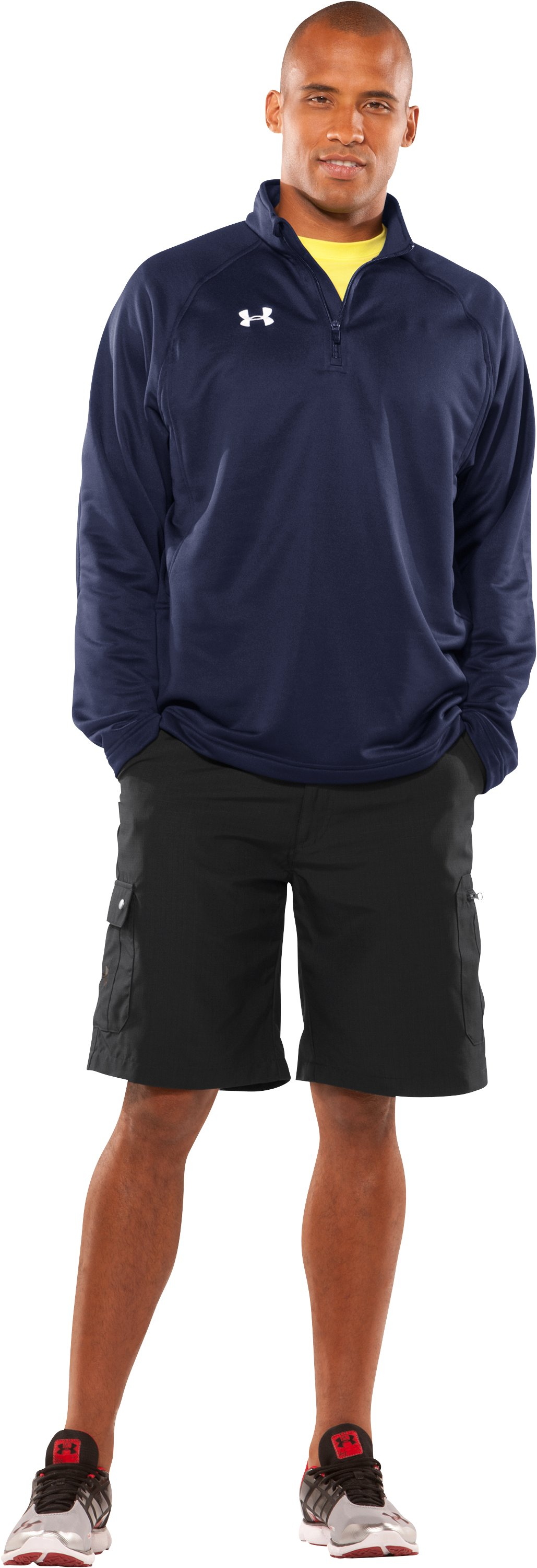 Men's UA Scout ¼ Zip Pullover, Midnight Navy, Front