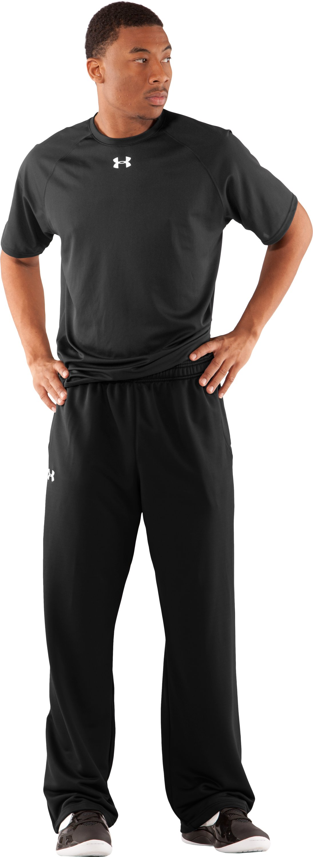 Men's UA Scout Knit Pants, Black , Front