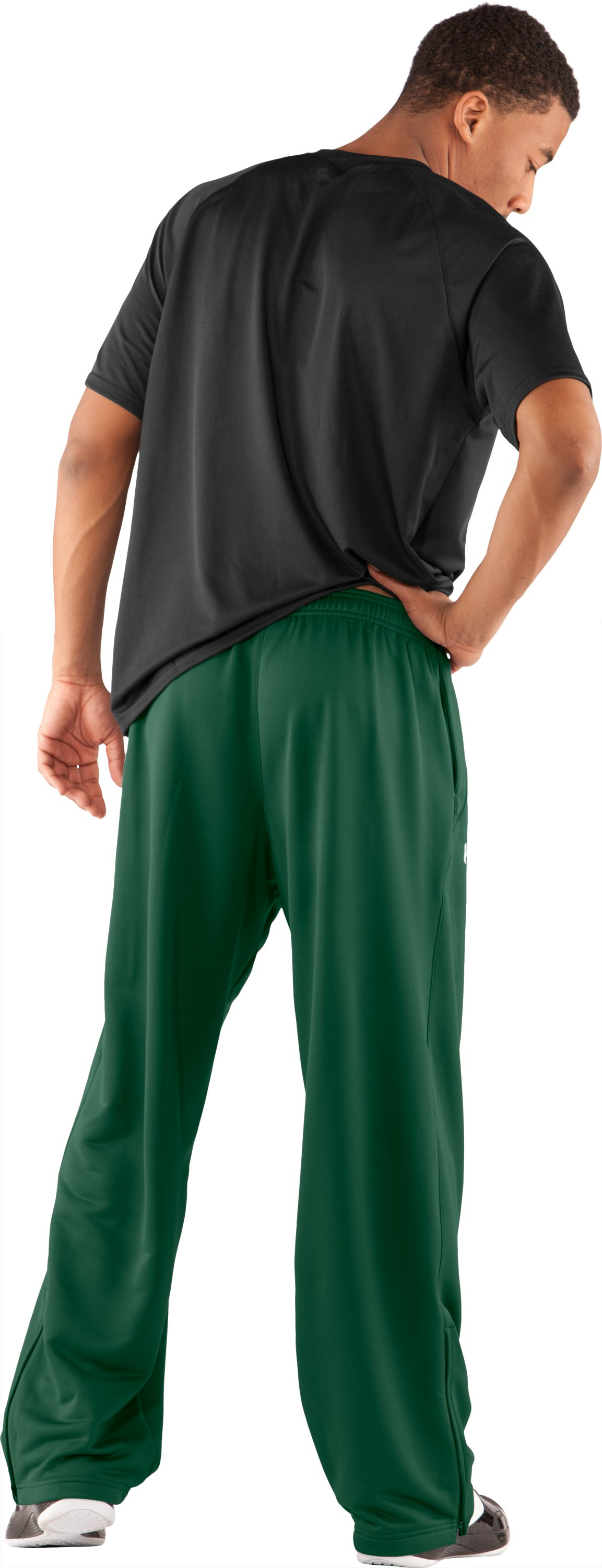 Men's UA Scout Knit Pants, Forest Green, Back