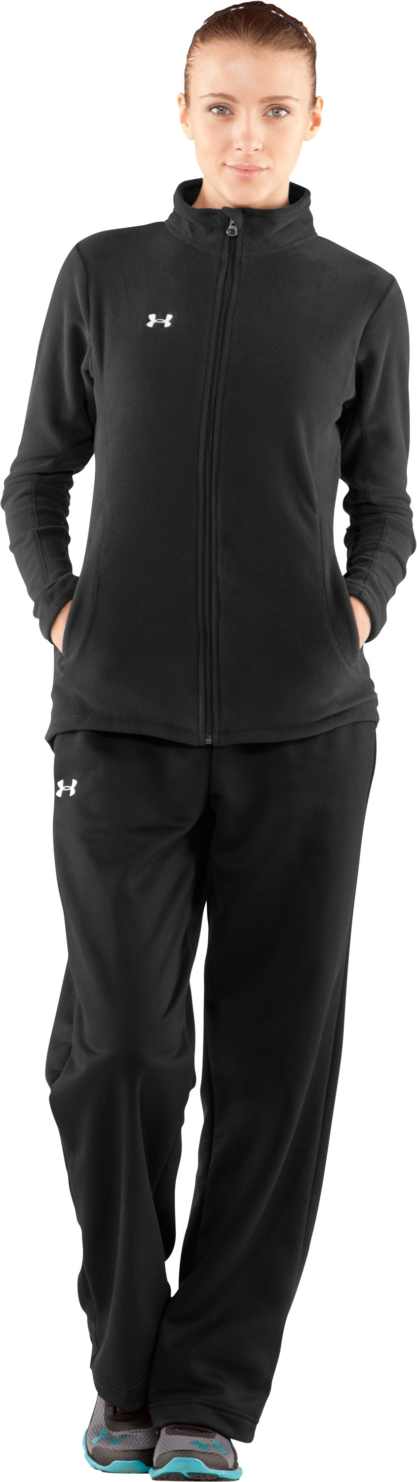 Women's Outer Limits Full Zip, Black , Front