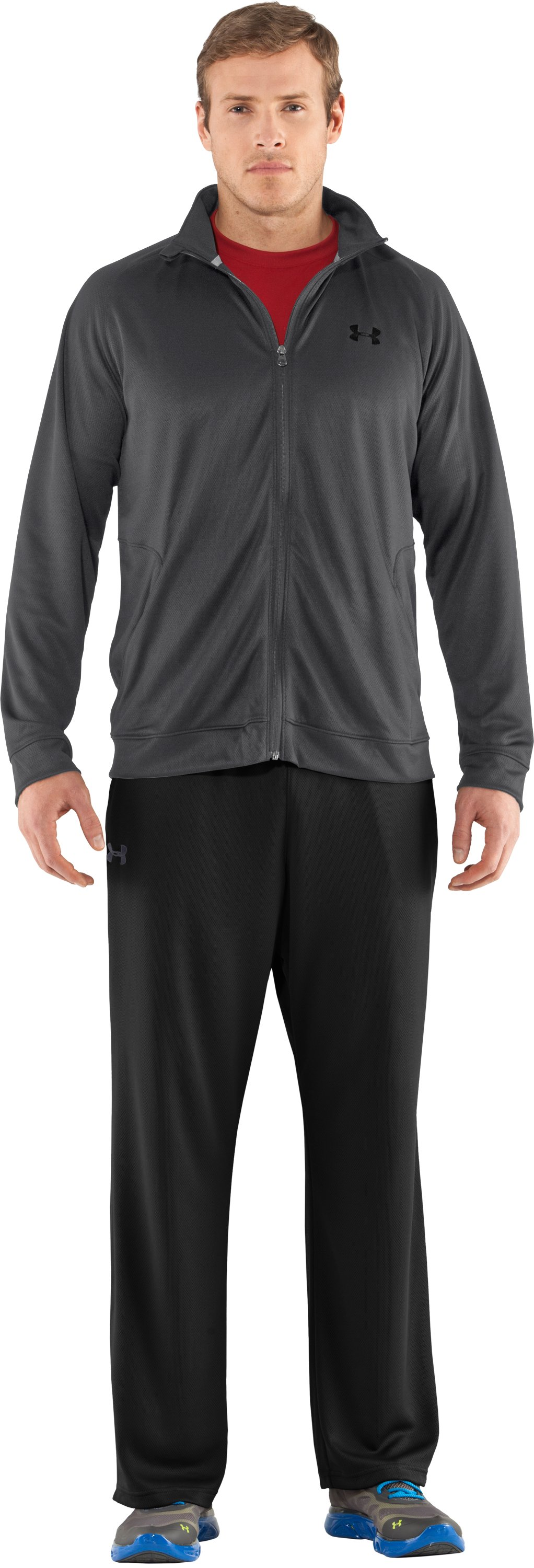 Men's UA Flex Jacket, Graphite, Front