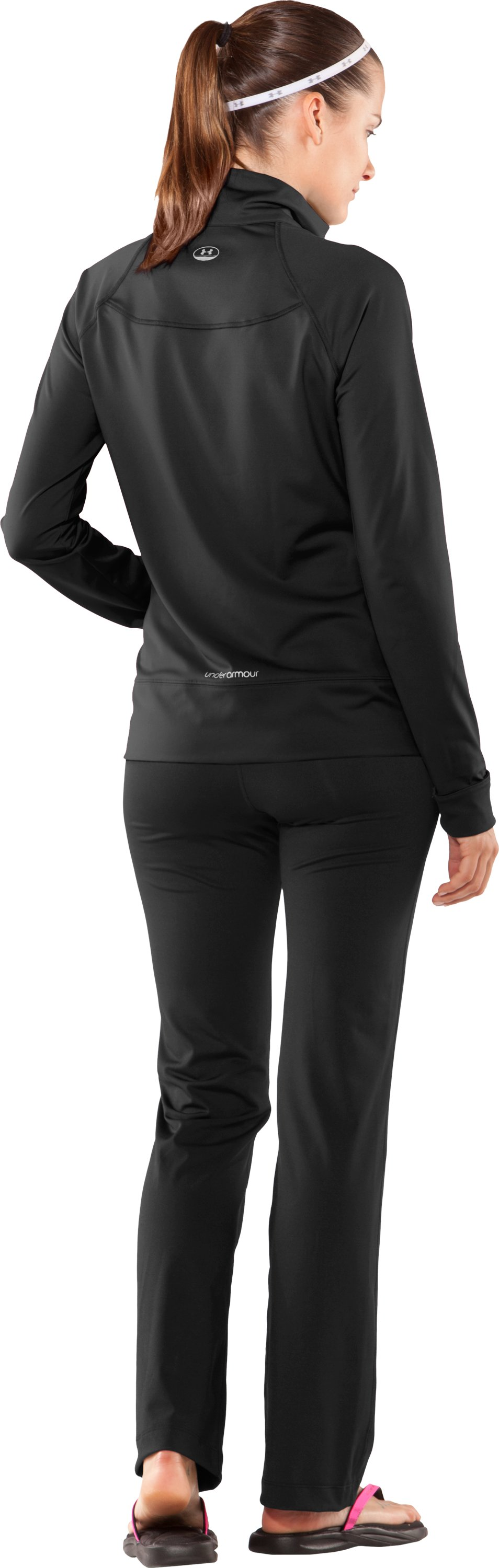 Women's UA Form Full Zip Jacket, Black , Back