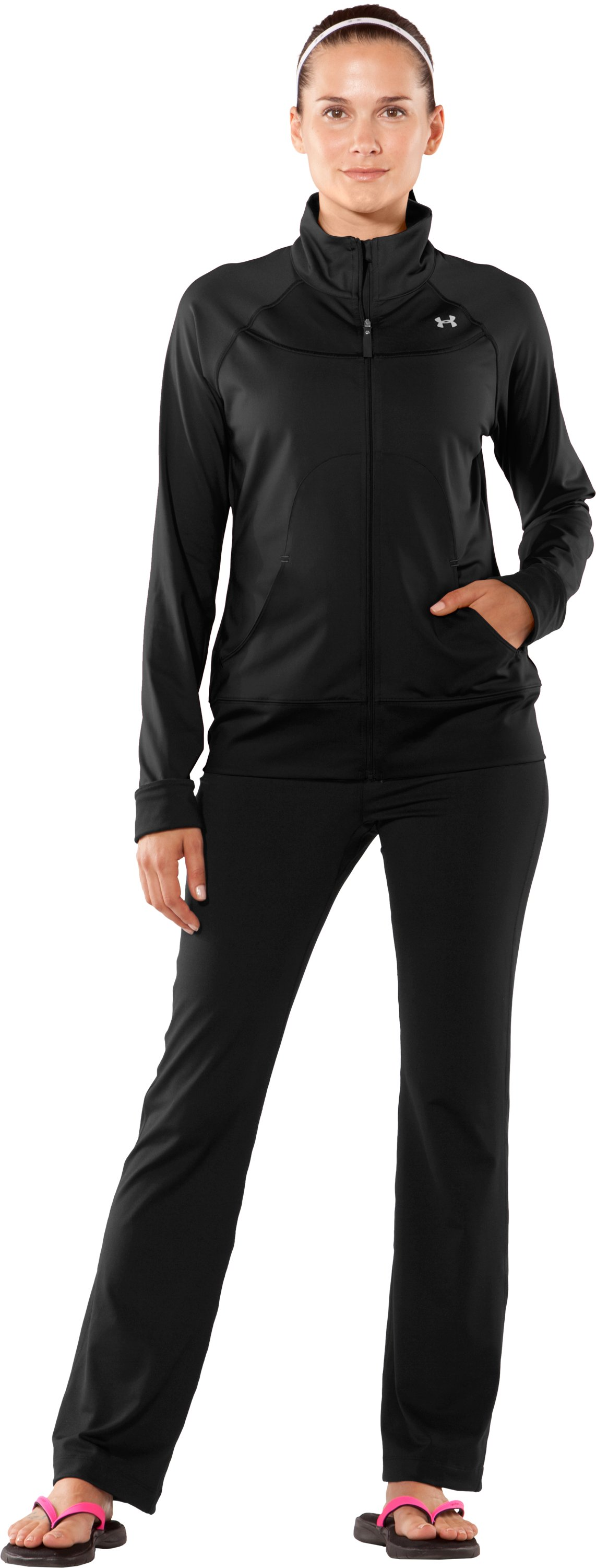 Women's UA Form Full Zip Jacket, Black , Front