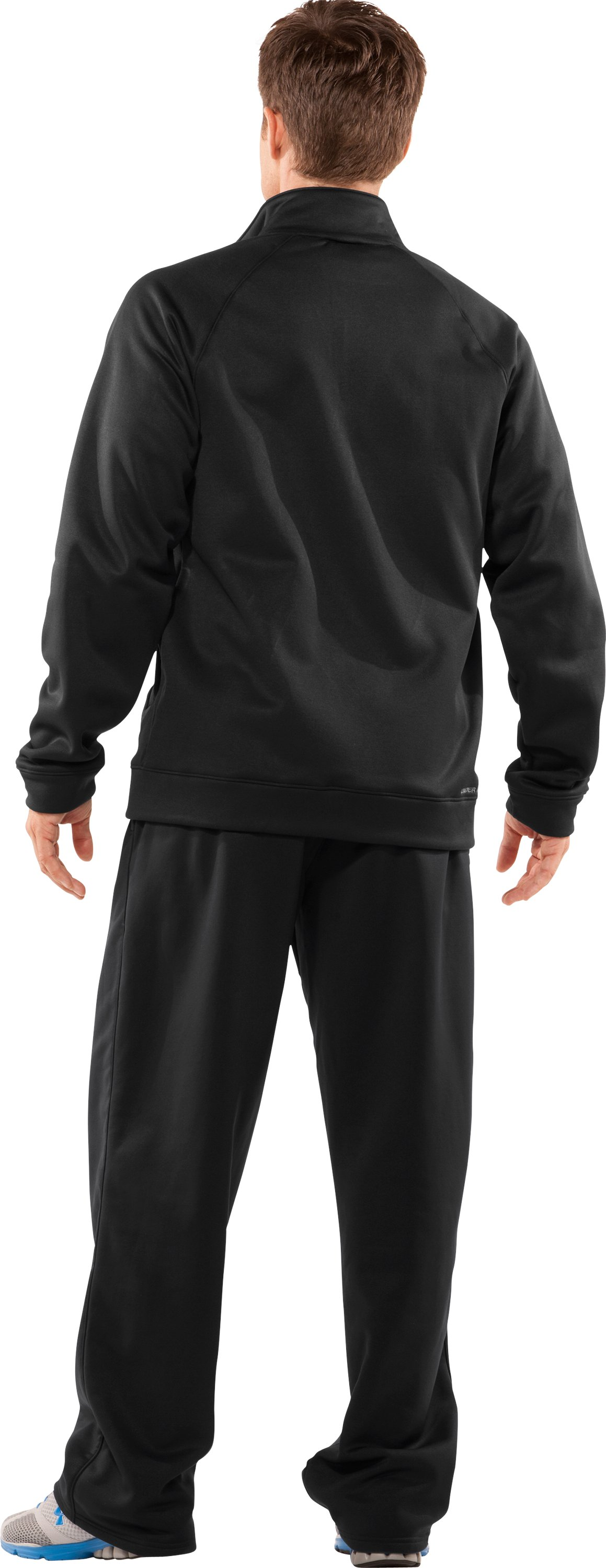 Men's Armour® Fleece Full Zip Jacket, Black , Back