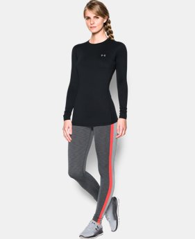 New to Outlet Women's ColdGear® Fitted Long Sleeve Crew  1 Color $37.99