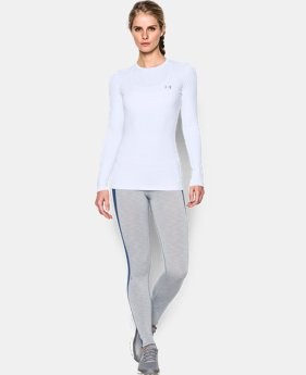 New to Outlet Women's ColdGear® Fitted Long Sleeve Crew  2 Colors $37.99