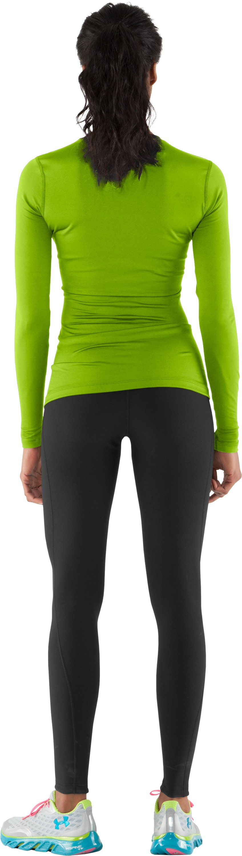 Women's ColdGear® Fitted Long Sleeve Crew, Fusion, Back