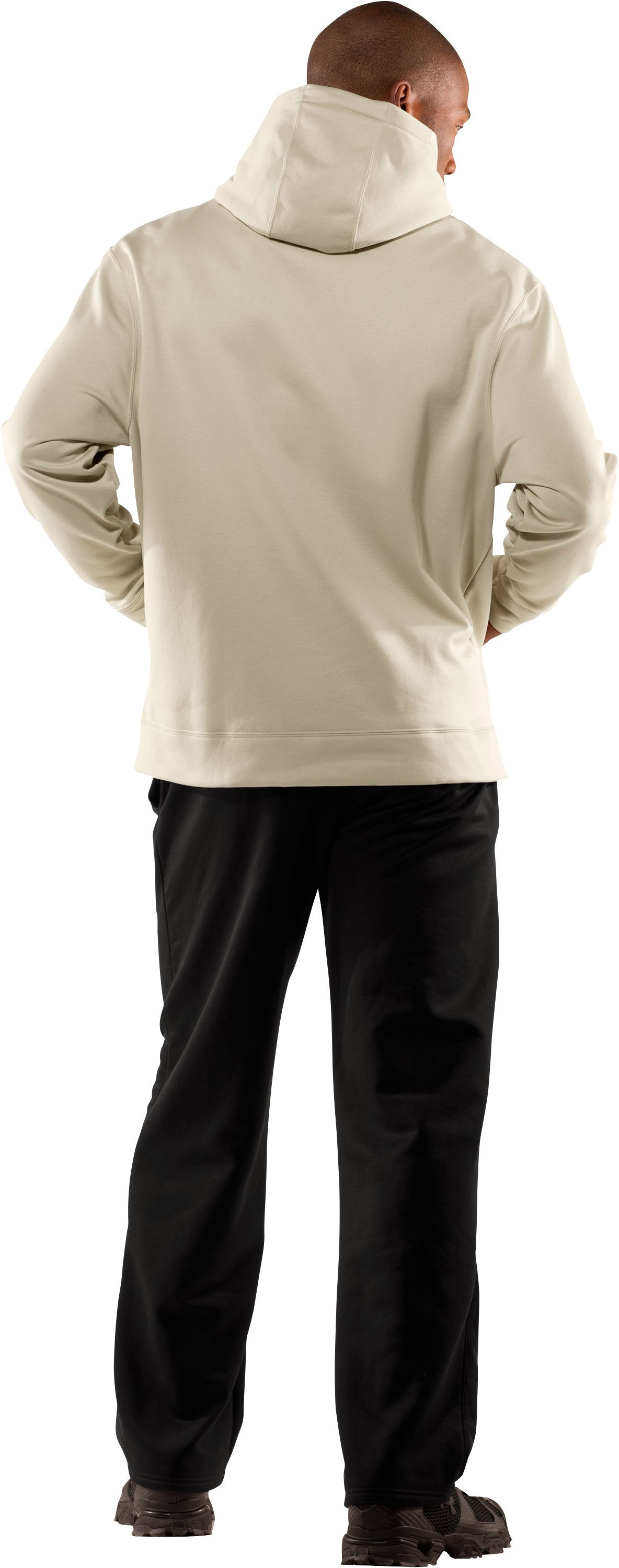 Men's Big Flag Logo Tackle Twill Fleece Hoodie, Desert Sand, Back