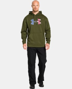 Men's Big Flag Logo Tackle Twill Fleece Hoodie