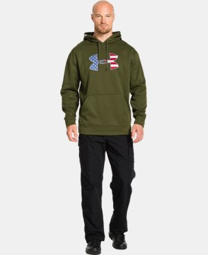 Men's Big Flag Logo Tackle Twill Fleece Hoodie   $48.99