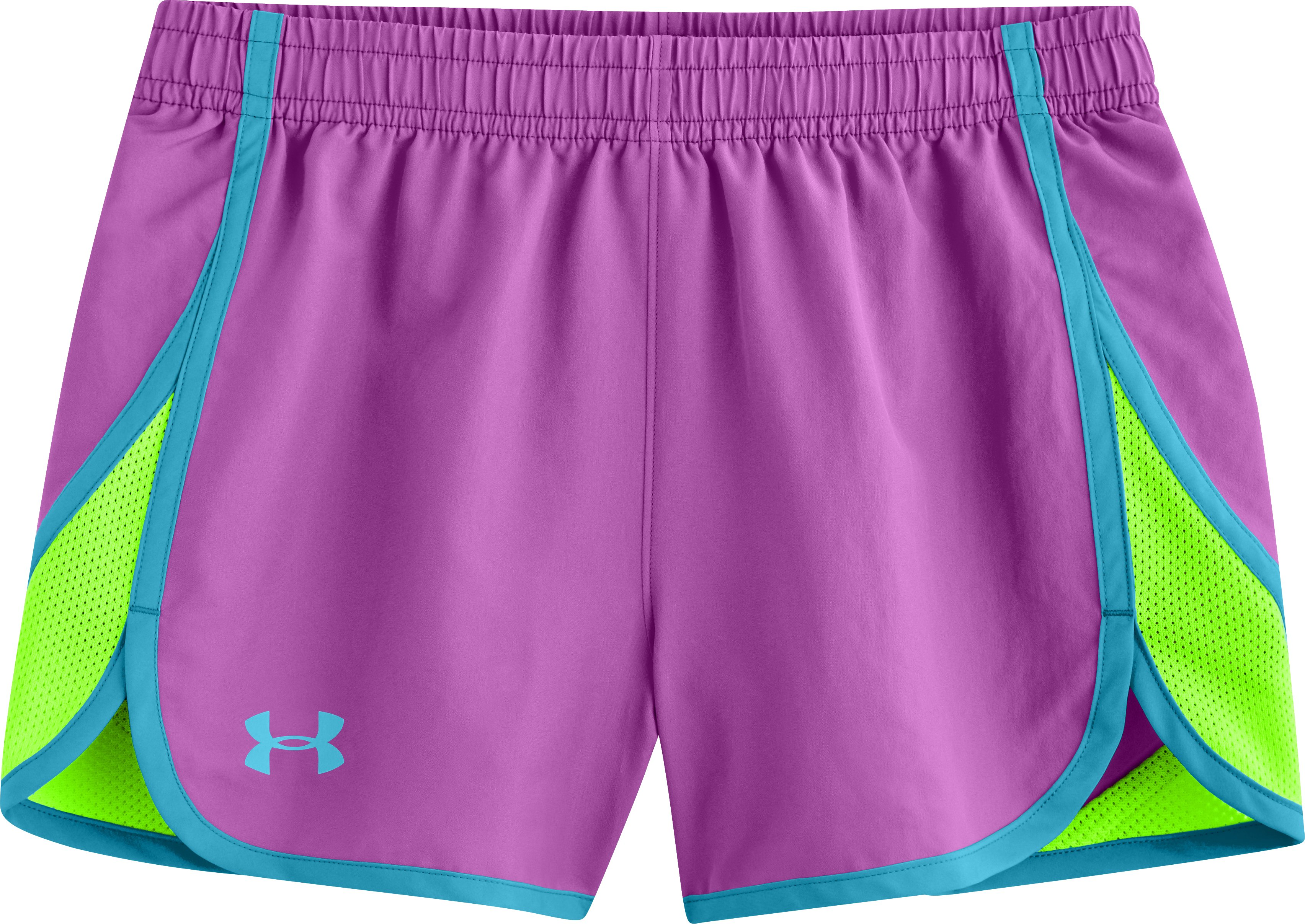 "Girls' UA Escape 3"" Shorts, EXOTIC BLOOM, Laydown"