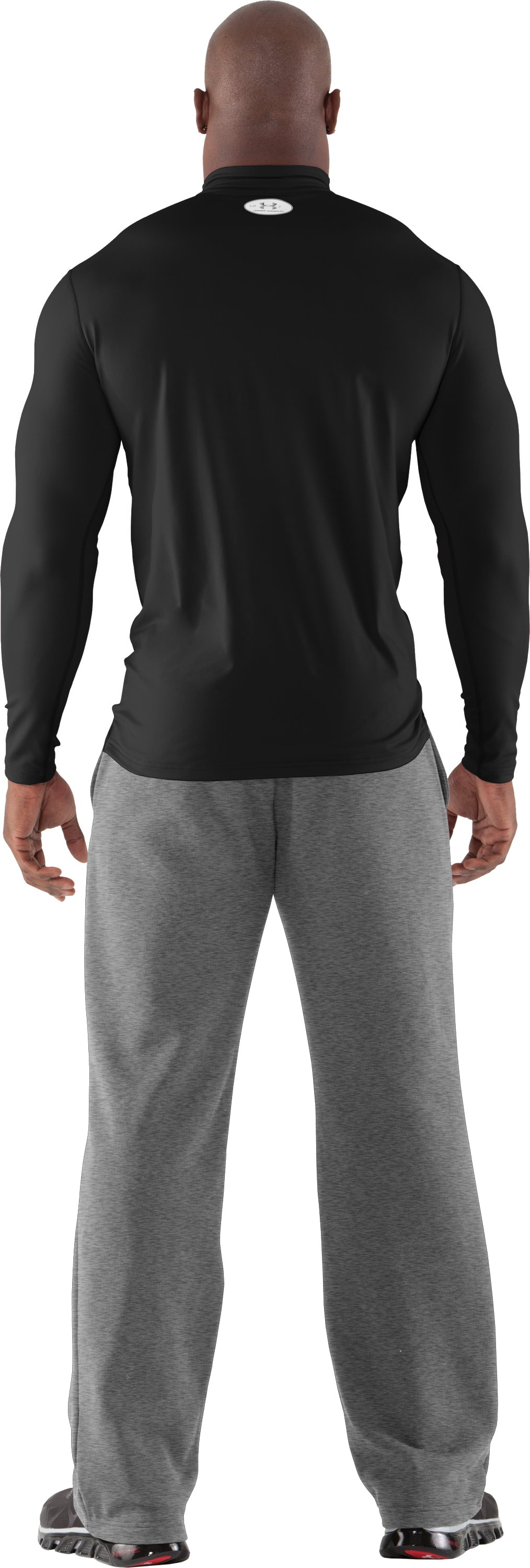 Men's ColdGear® Fitted Long Sleeve Mock, Black , Back