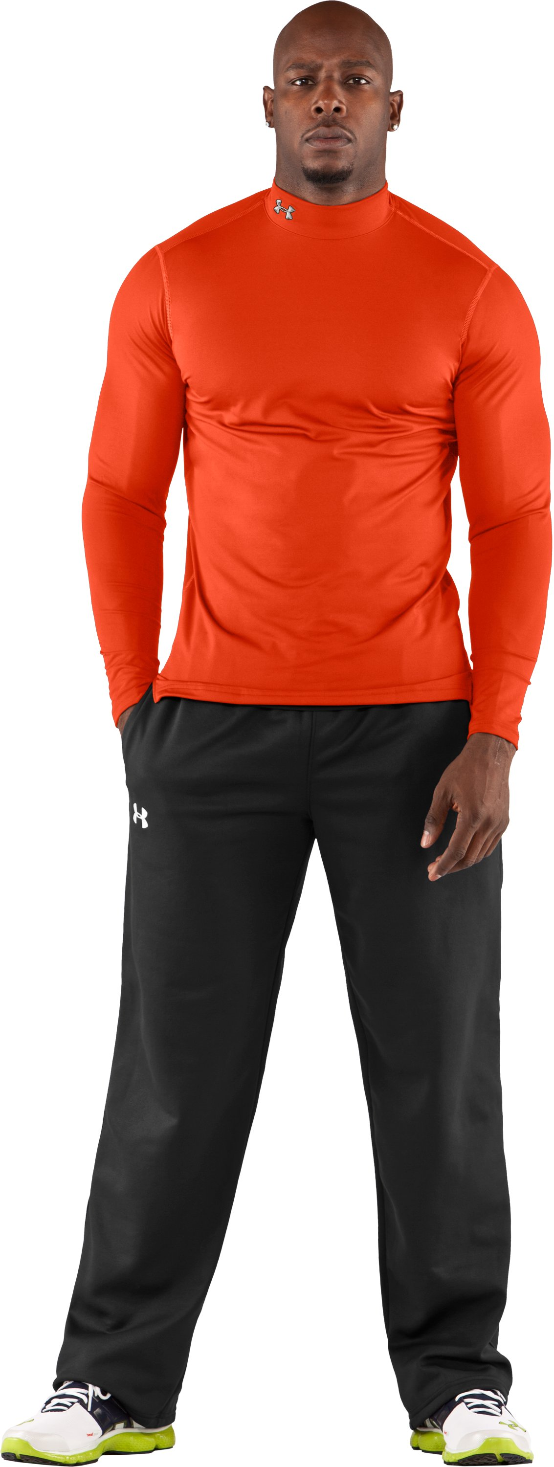Men's ColdGear® Fitted Long Sleeve Mock, Explosive