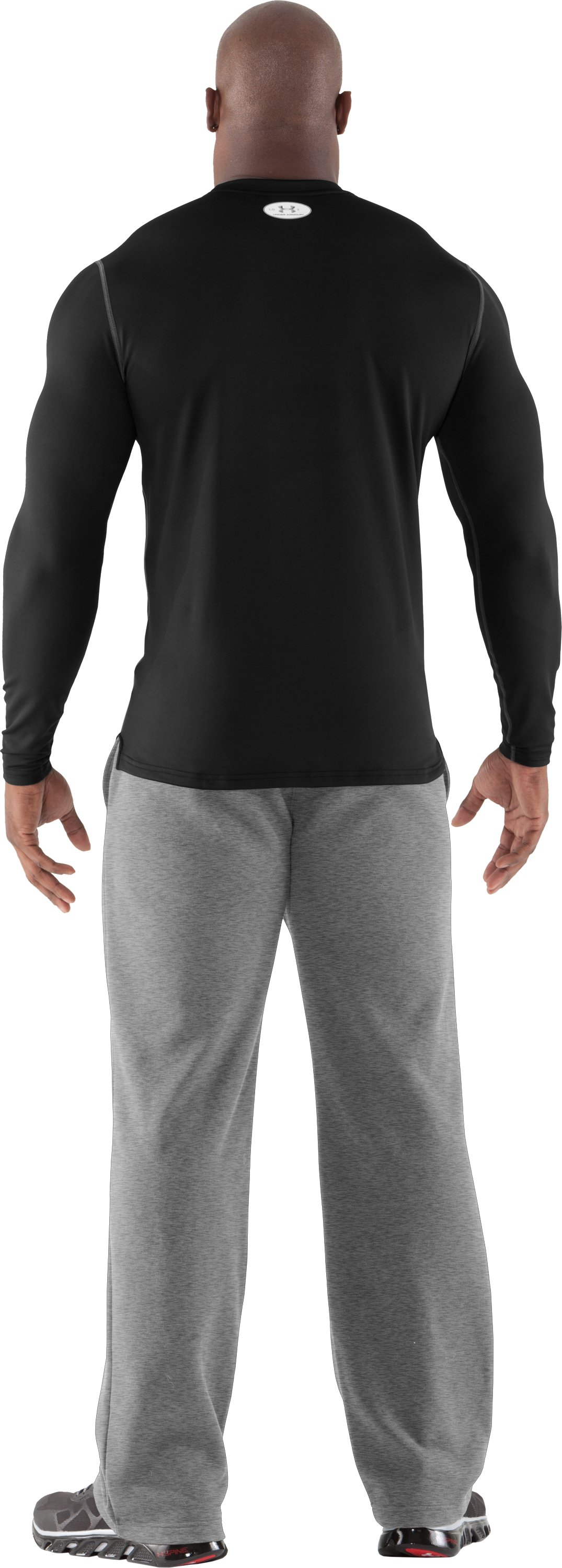 Men's ColdGear® Fitted Long Sleeve Crew, Black , Back