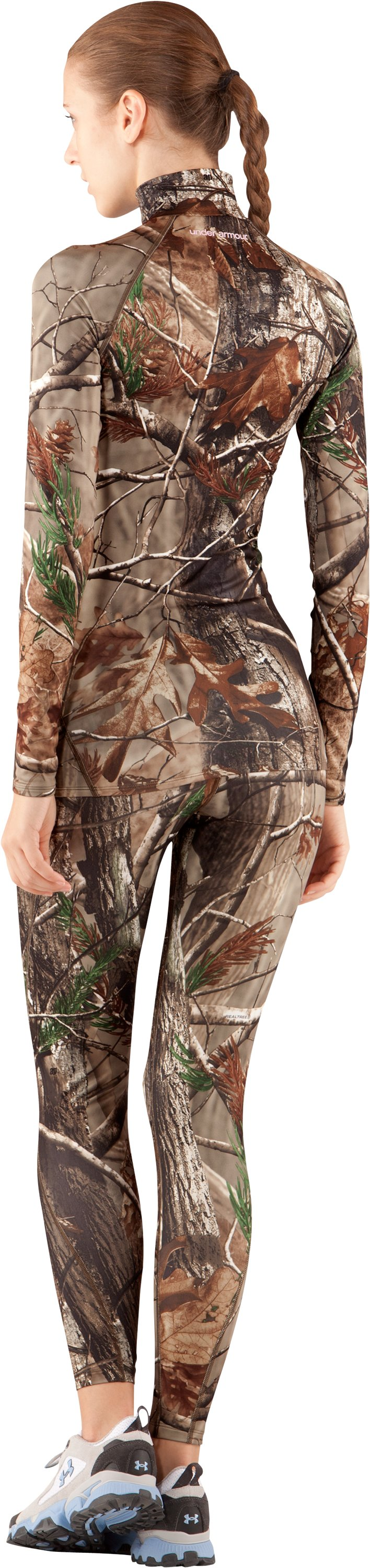 Women's UA EVO ColdGear® Camo Leggings, Realtree AP, Back