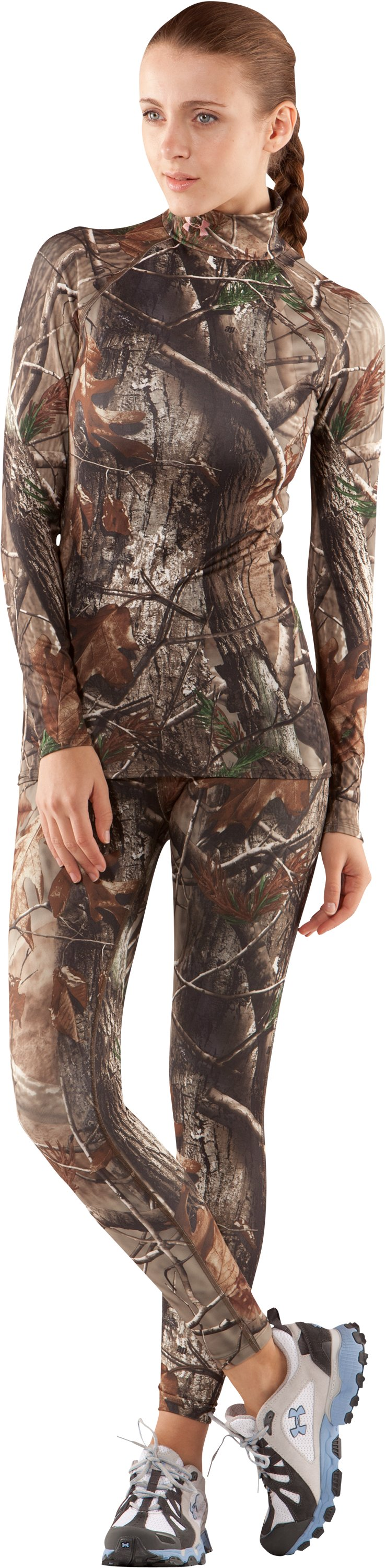 Women's UA EVO ColdGear® Camo Leggings, Realtree AP, zoomed image