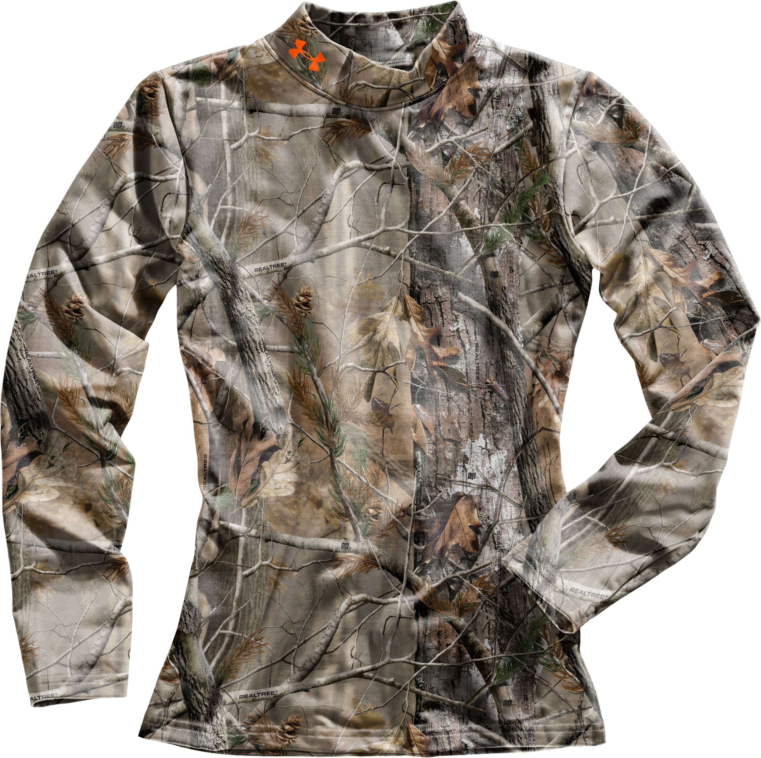 Boys' ColdGear® Evo Camo Mock, Realtree AP, Laydown