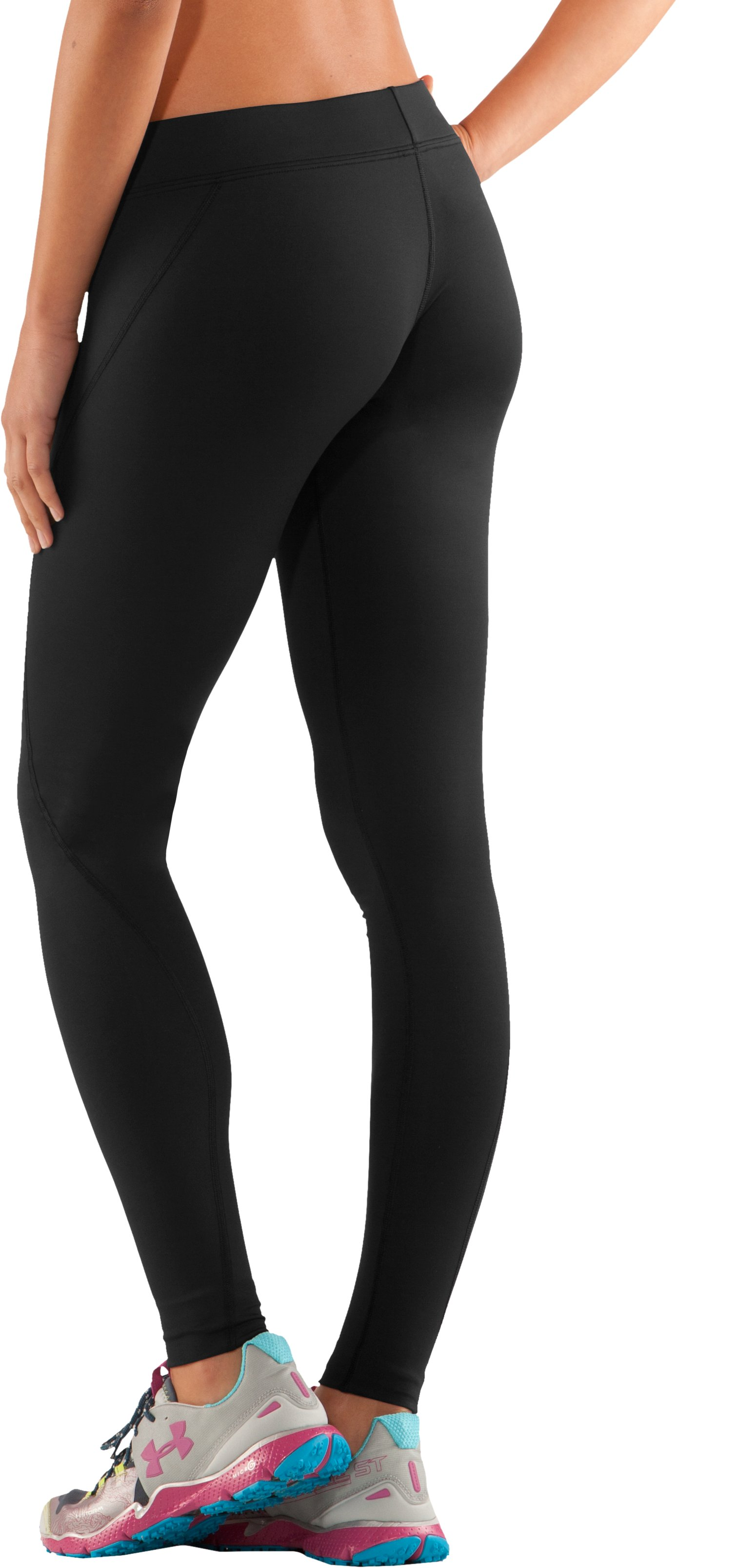 Women's ColdGear® Fitted Leggings, Black , undefined