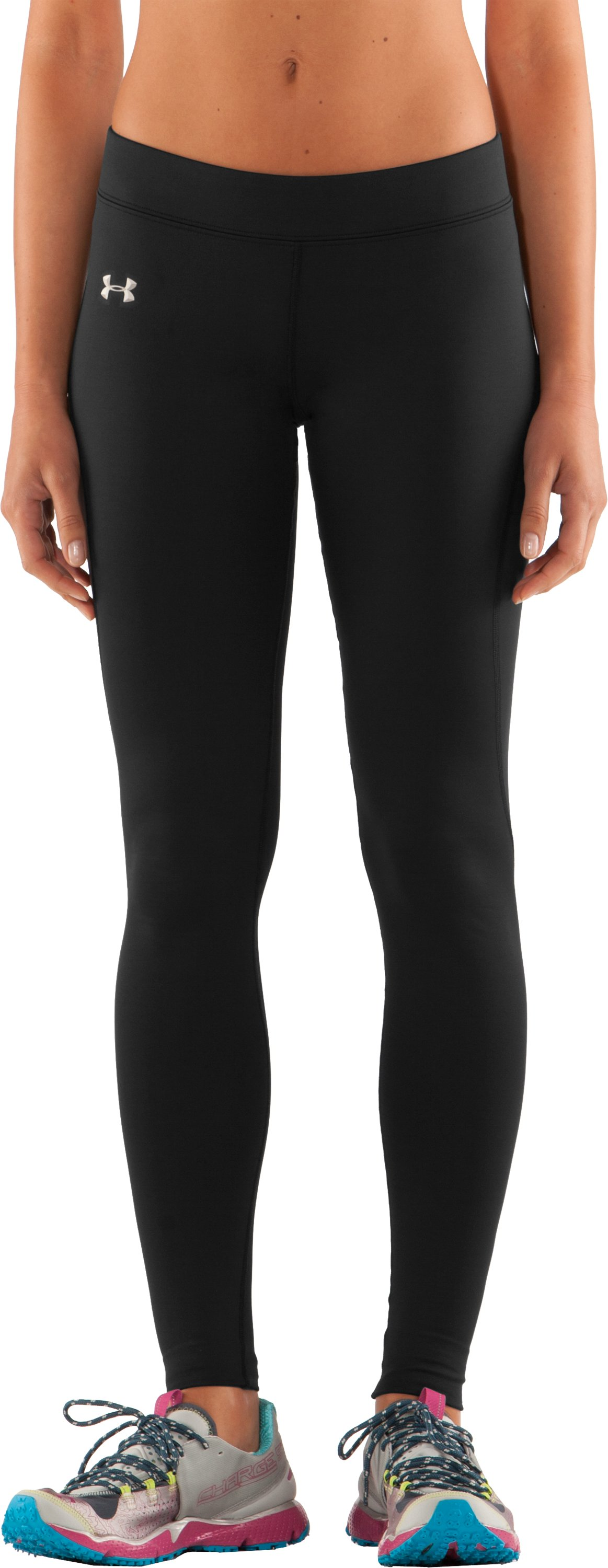 Women's ColdGear® Fitted Leggings, Black , zoomed image