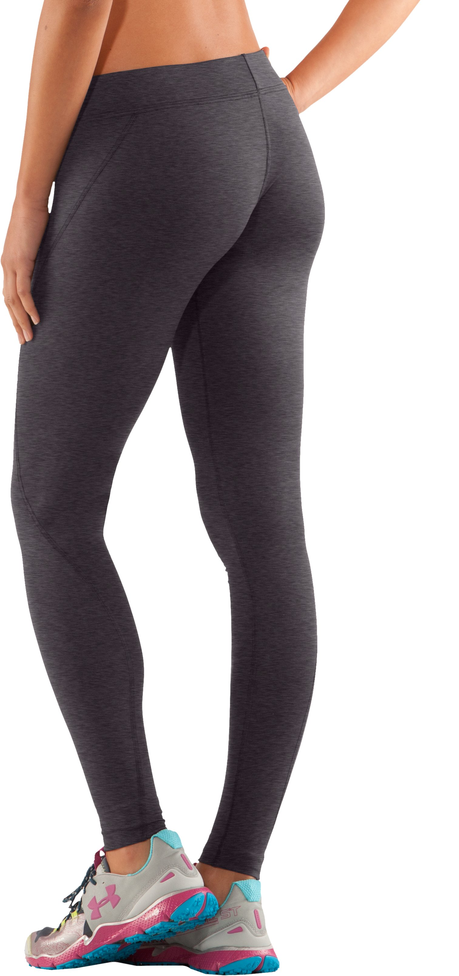 Women's ColdGear® Fitted Leggings, Carbon Heather, undefined
