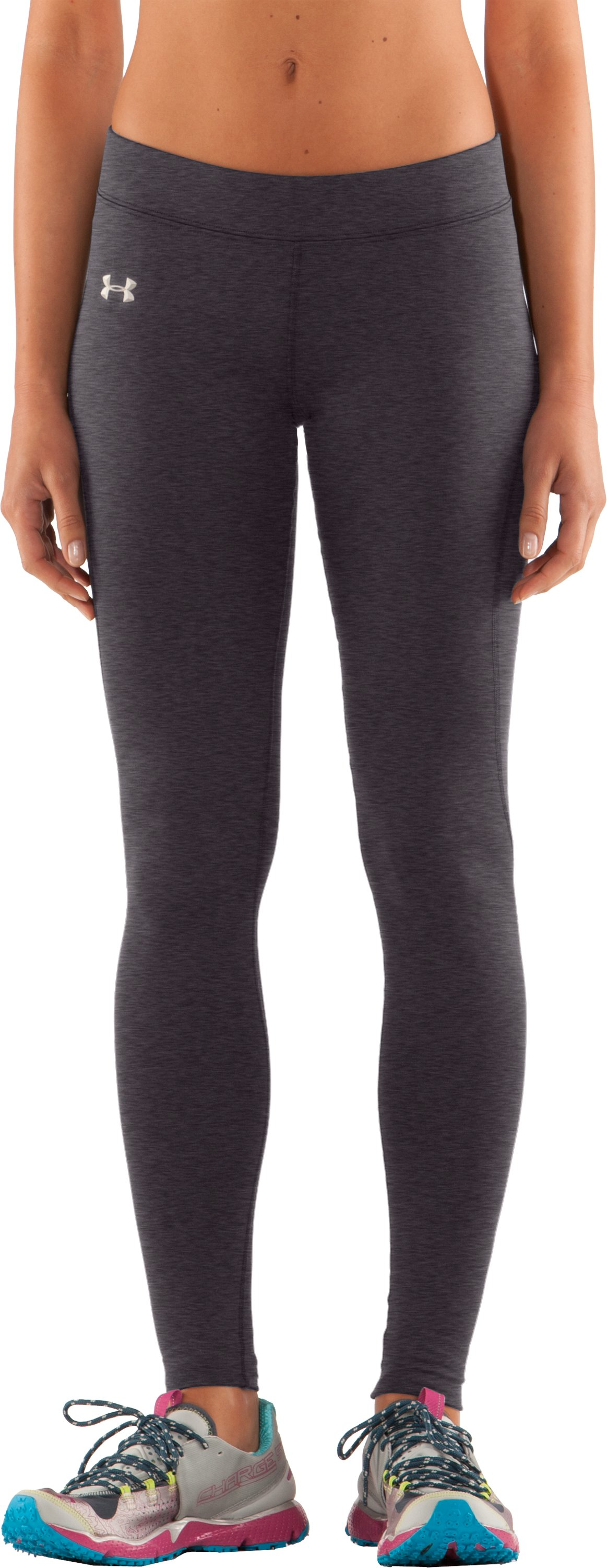 Women's ColdGear® Fitted Leggings, Carbon Heather, zoomed image