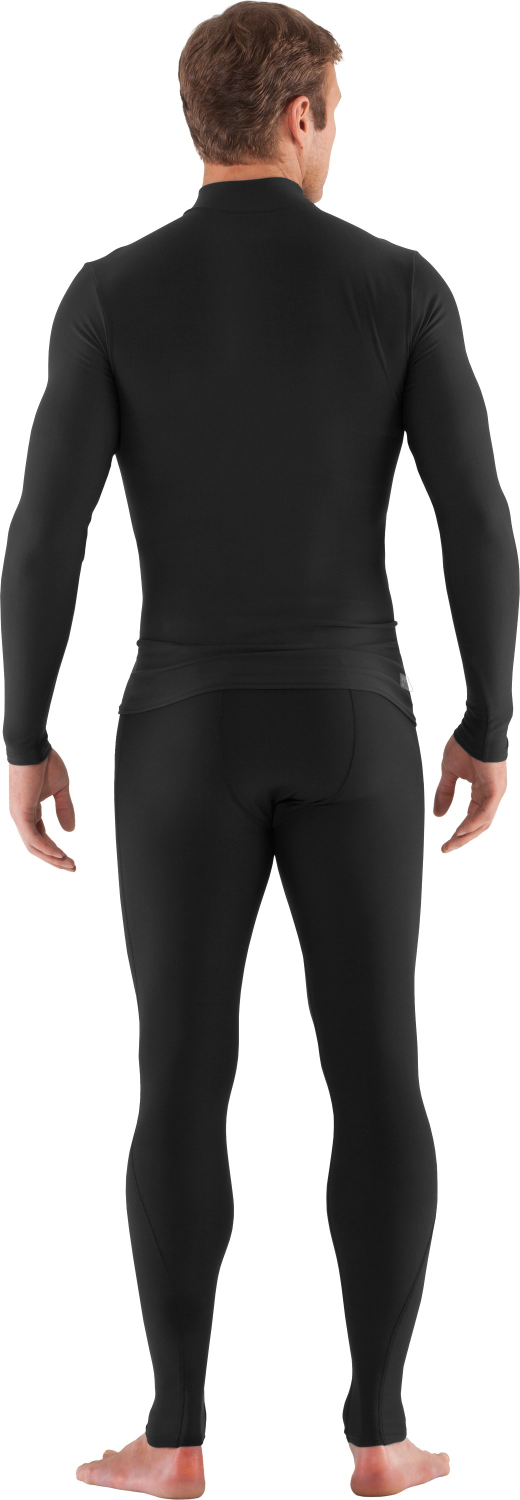 Men's Tactical ColdGear® Compression Leggings, Black , Back
