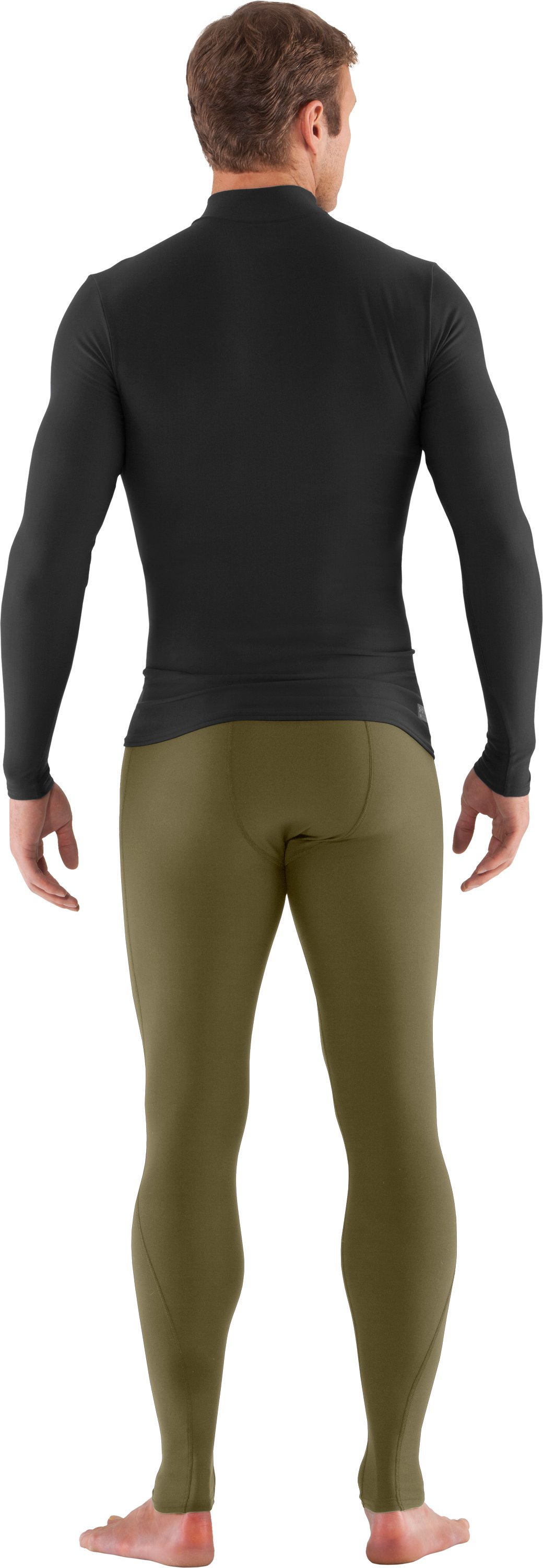 Men's Tactical ColdGear® Compression Leggings, Marine OD Green, Back