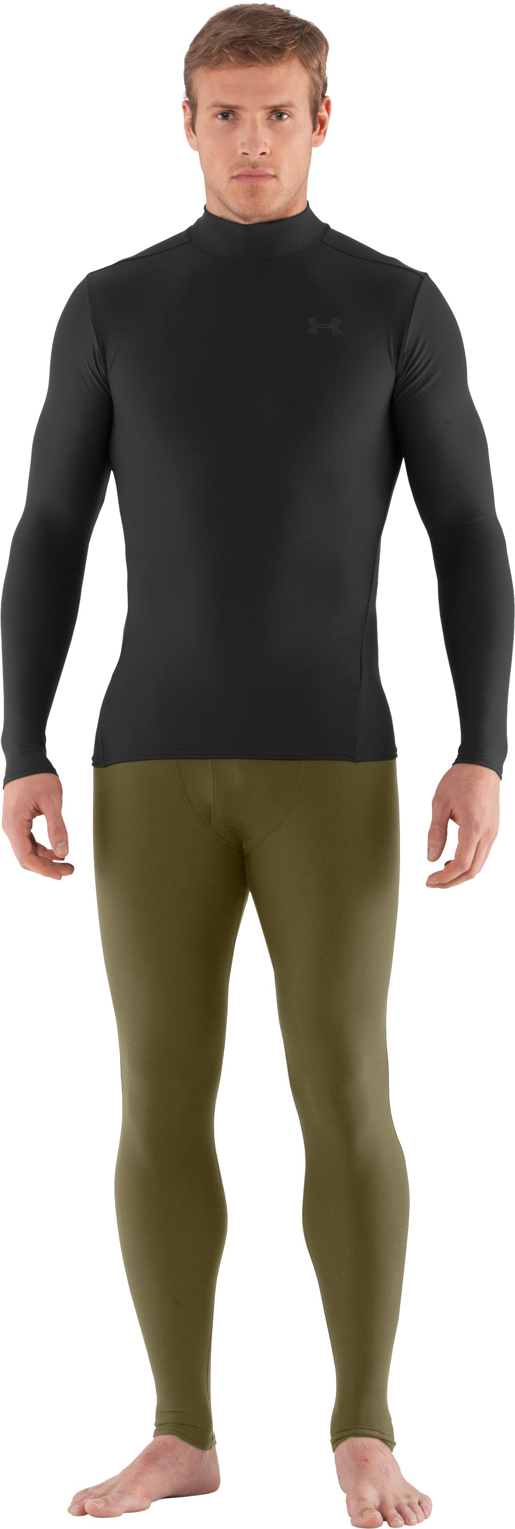 Men's Tactical ColdGear® Compression Leggings, Marine OD Green, Front