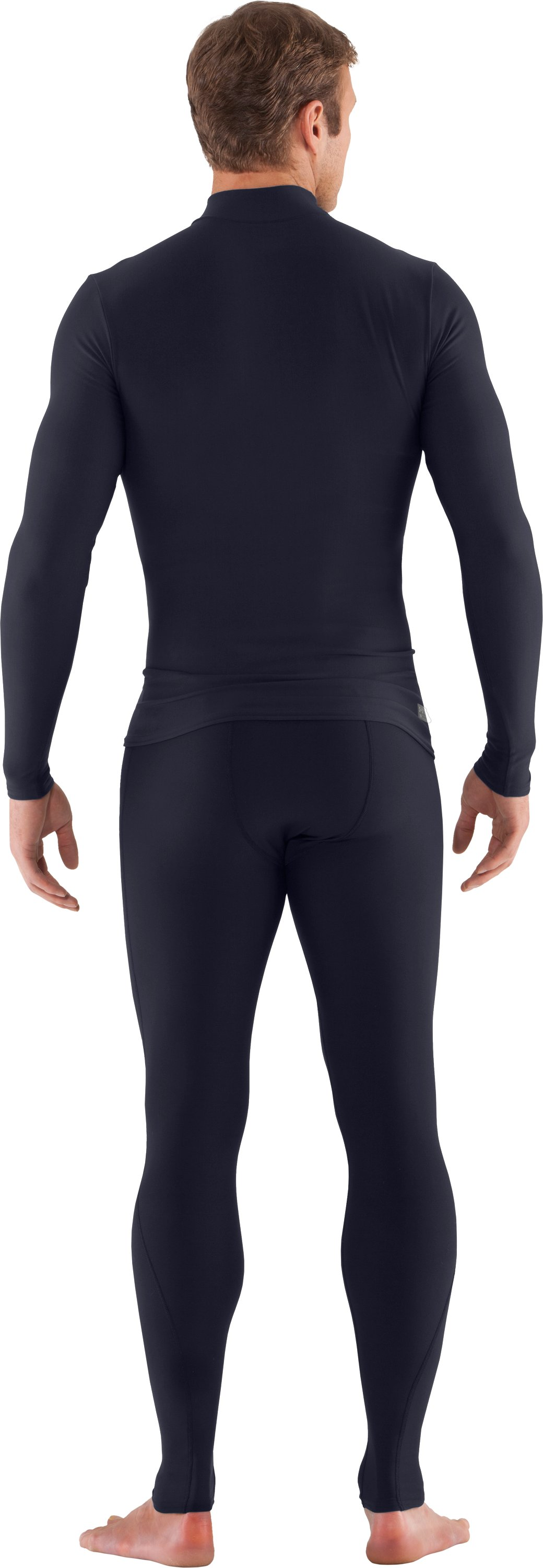 Men's Tactical ColdGear® Compression Leggings, Dark Navy Blue , Back