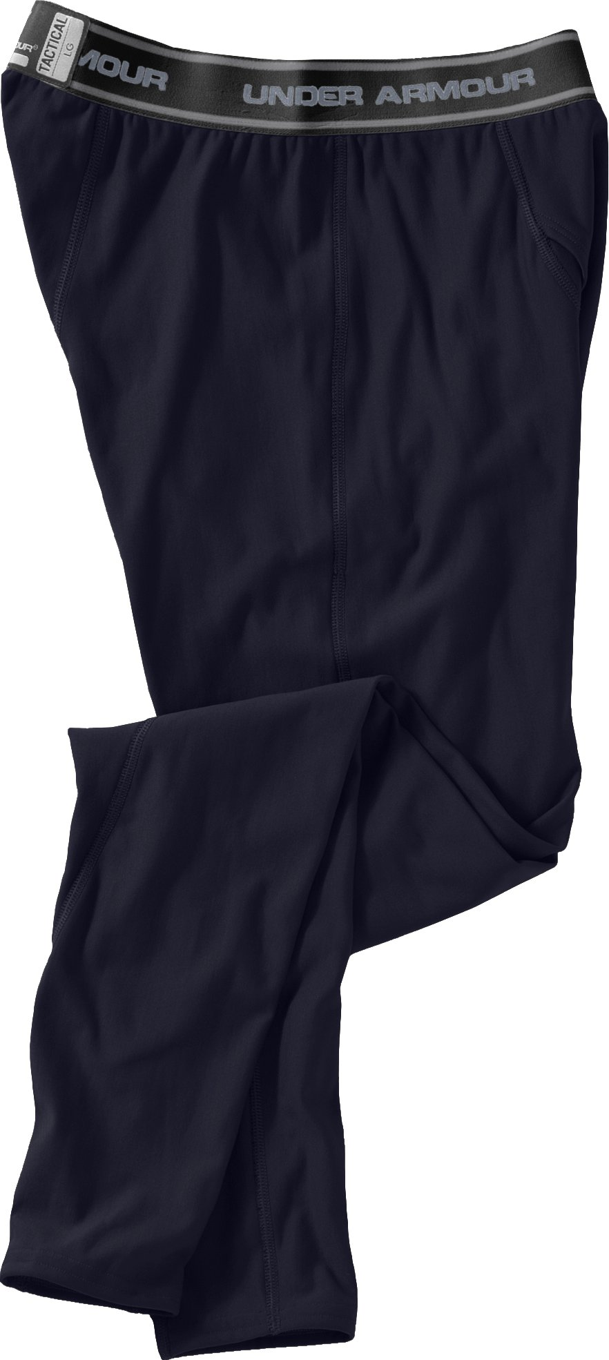 Men's Tactical ColdGear® Compression Leggings, Dark Navy Blue , Laydown